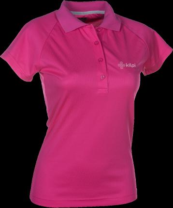 Dámské funkční POLO tričko KILPI MURIEL I. Růžová Barva: Růžová, Velikost: 44