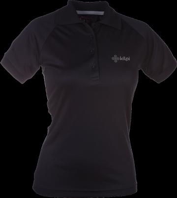 Dámské funkční POLO tričko KILPI MURIEL I. Černá Barva: Černá, Velikost: 34