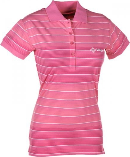 Dámské POLO tričko KILPI FLORENCE II. Růžová Barva: Růžová, Velikost: 46