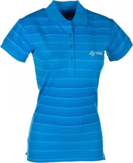 Dámské POLO tričko KILPI FLORENCE II. Modrá Barva: Modrá, Velikost: 38