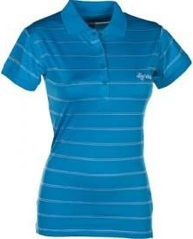 Dámské funkční POLO tričko KILPI LIGURIA I. Modrá Barva: Modrá, Velikost: 38
