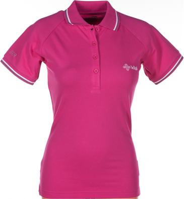 Dámské POLO tričko KILPI DUSTER VII. Růžová Barva: Růžová, Velikost: 46