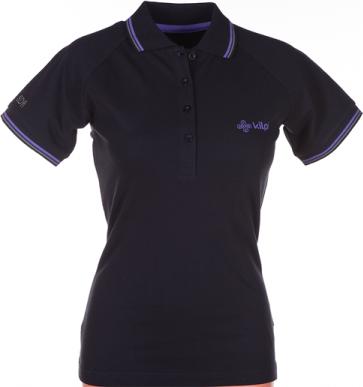 Dámské POLO tričko KILPI DUSTER VII. Černá Barva: Černá, Velikost: 34