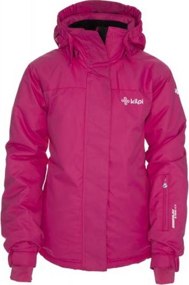 Dívčí zimní lyžařská bunda KILPI AINO-JG růžová Barva: Růžová, Velikost: 170