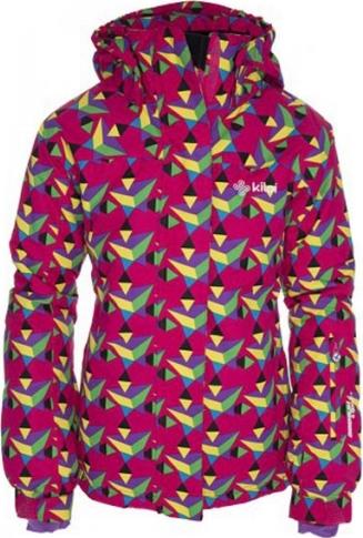 Dívčí lyžařská bunda KILPI AINO-JG Potisk - růžová Barva: Růžová, Velikost: 170