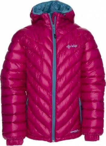Dívčí zimní bunda KILPI BRASKI-JG Růžová Barva: Růžová, Velikost: 164