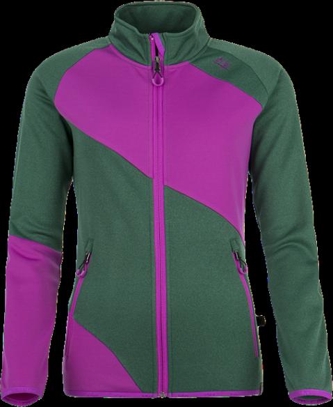 Dámská fleecová bunda KILPI BONNATA Zelená Barva: Zelená, Velikost: 34