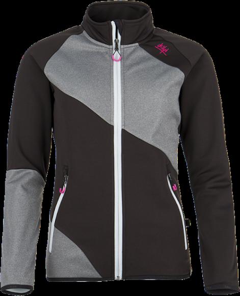 Dámská fleecová bunda KILPI BONNATA Černá Barva: Černá, Velikost: 34