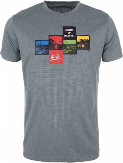 Pánské technické tričko KILPI GIACINTO Khaki Barva: Khaki, Velikost: S