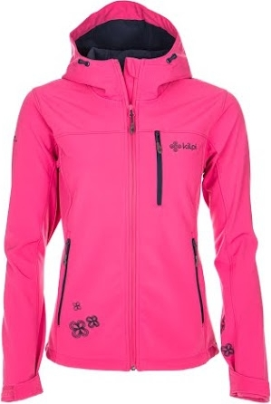 Dámská softshellová bunda KILPI ELIA Růžová Barva: Růžová, Velikost: 40
