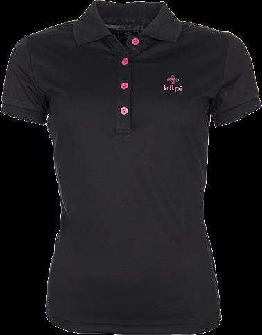 Dámské technické POLO tričko KILPI BIBIANA Černá Barva: Černá, Velikost: 34