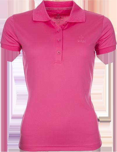 Dámské technické POLO tričko KILPI BIBIANA Růžová Barva: Růžová, Velikost: 46