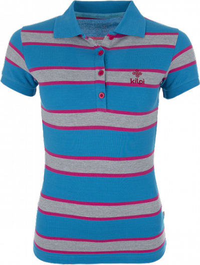 Dámské POLO tričko KILPI AGAPE Modrá Barva: Modrá, Velikost: 36