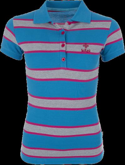 Dámské POLO tričko KILPI AGAPE Modrá Barva: Modrá, Velikost: 42