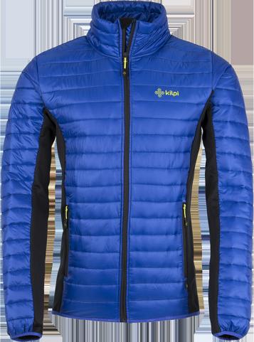 Pánská prošívaná bunda KILPI ISAIAH modrá Barva: Modrá, Velikost: S