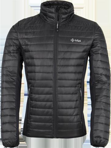 Pánská prošívaná bunda KILPI ISAIAH černá Barva: Černá, Velikost: M
