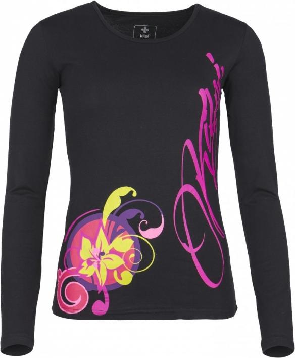 Dámské tričko KILPI ORNAMENT-W Černá Barva: Černá, Velikost: 34