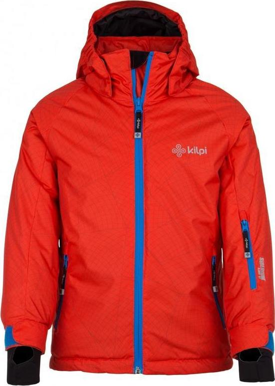 Chlapecká zimní bunda KILPI SEMERU-JB Červená Barva: Červená, Velikost: 158