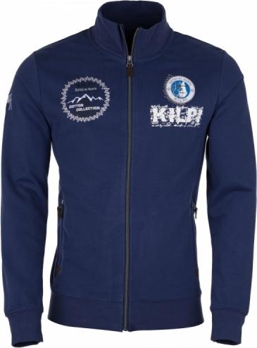 Pánská bavlněná mikina KILPI KEES-M Modrá Barva: Modrá, Velikost: 3XL