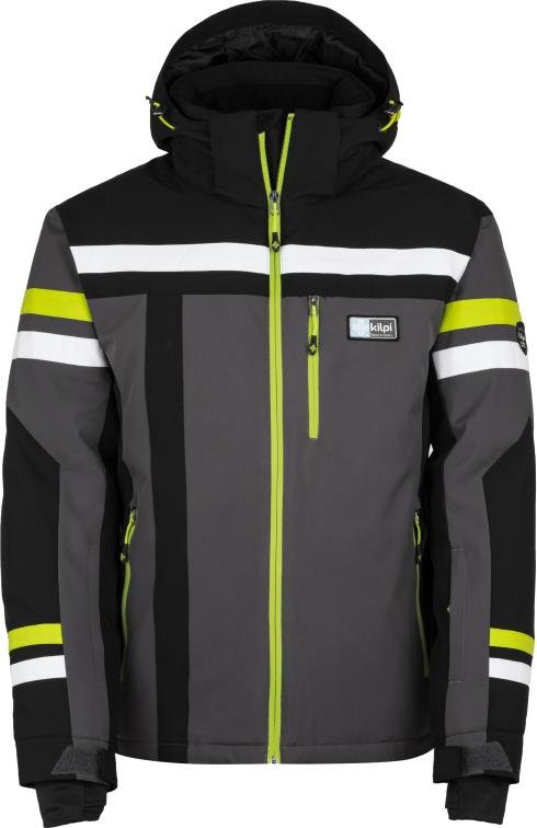 Pánská lyžařská bunda KILPI TITAN-M Tmavě šedá Barva: Šedá, Velikost: S