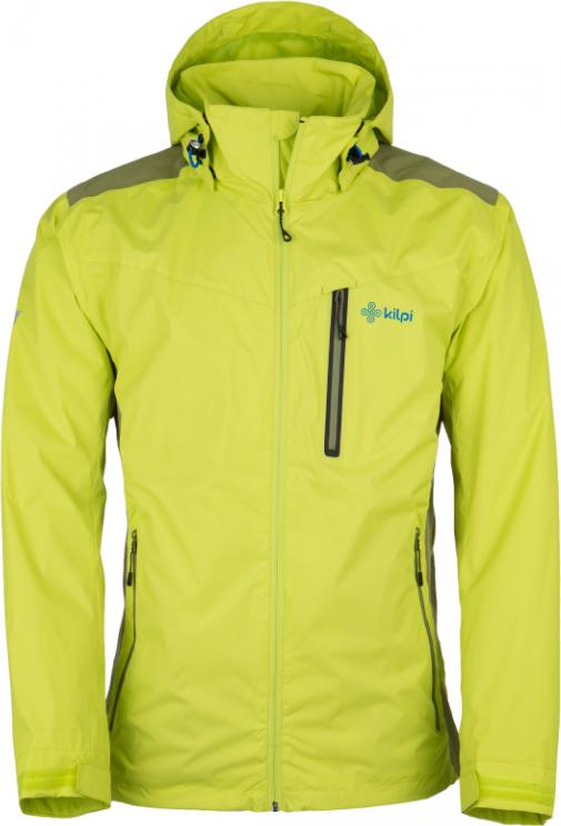 Pánská technická bunda KILPI ORTLER-M Světle zelená Barva: Zelená, Velikost: XS