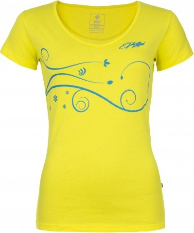 Dámské tričko KILPI MONCAYO-W žlutá Barva: Žlutá, Velikost: 42