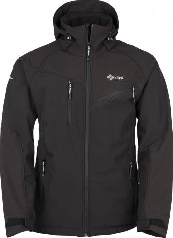 Pánská softshellová bunda KILPI AZON Černá Barva: Černá, Velikost: XXL