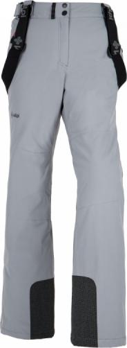 Dámské lyžařské kalhoty KILPI ELARE-W Světle šedá Barva: Šedá, Velikost: 38