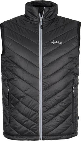 Pánská prošívaná vesta KILPI LONGIN černá Barva: Černá, Velikost: M