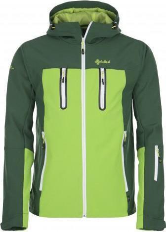 Pánská lyžařská softschellová bunda KILPI DANIEL DANIEL Khaki Barva: Khaki, Velikost: XXL
