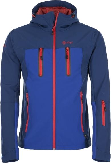Pánská softshellová bunda KILPI DANIEL Modrá Barva: Modrá, Velikost: 3XL