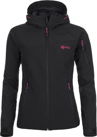 Dámská lyžařská softshellová bunda KILPI SAFIRA Černá Barva: Černá, Velikost: 38