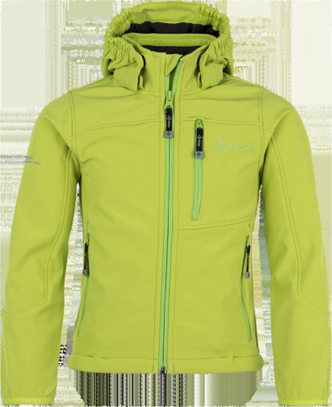 Chlapecká softshellová bunda KILPI ELIO-JB zelená Barva: Zelená, Velikost: 152