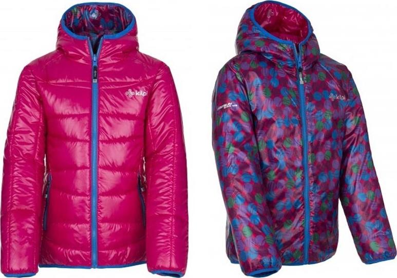 Dívčí zimní bunda KILPI ORTONA-JG růžová Barva: Růžová, Velikost: 158