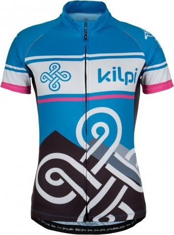 Dámský cyklistický dres KILPI SEPTIMA-W Modrá Barva: Modrá, Velikost: 36