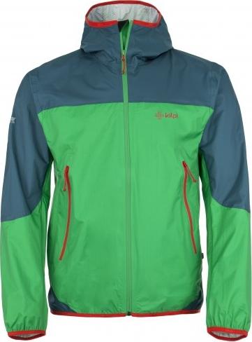 Pánská ultralehká technická bunda KILPI HURRICANE-M Zelená Barva: Zelená, Velikost: 3XL