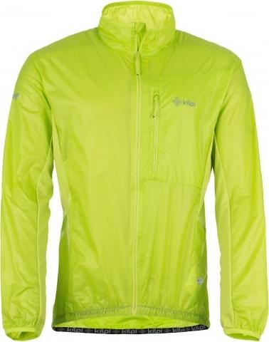 Pánská technická bunda KILPI AIRRUNNER-M Světle zelená Barva: Zelená, Velikost: XXL