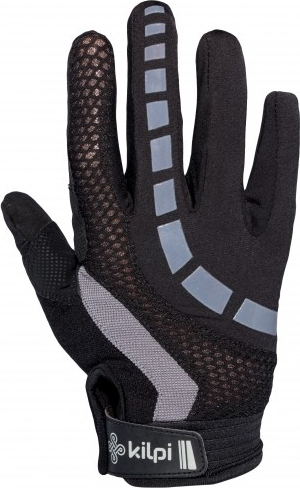Unisex cyklistické rukavice KILPI REDBUD-U Šedá Barva: Šedá, Velikost: XL