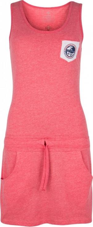 Dámské bavlněné šaty KILPI FANTASIA-W Růžová Barva: Růžová, Velikost: 38