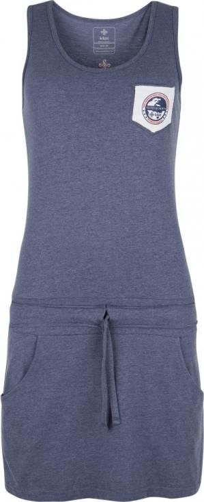 Dámské bavlněné šaty KILPI FANTASIA-W Modrá Barva: Modrá, Velikost: 42