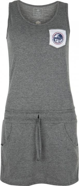 Dámské bavlněné šaty KILPI FANTASIA-W Tmavě šedá Barva: Šedá, Velikost: 38