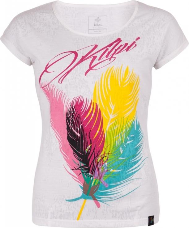 Dámské tričko KILPI PLUMA-W Bílá Barva: Bílá, Velikost: 34