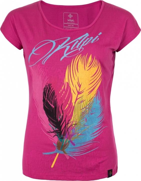 Dámské tričko KILPI PLUMA-W Růžová Barva: Růžová, Velikost: 40