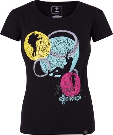 Dámské tričko KILPI KNOLL-W černá Barva: Černá, Velikost: 34