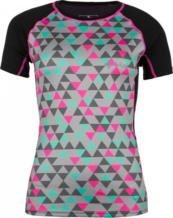 Dámské funkční tričko KILPI RAINBOW-W Černá Barva: Černá, Velikost: 42