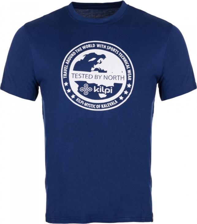 Pánské tričko KILPI GLOBE-M Modrá Barva: Modrá, Velikost: 3XL