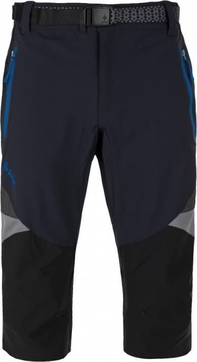 Pánské funkční 3/4 kalhoty KILPI TERRAIN-M tmavě modrá Barva: Modrá, Velikost: 3XL