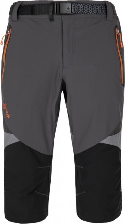 Pánské funkční 3/4 kalhoty KILPI TERRAIN-M tmavě šedá Barva: Šedá, Velikost: 3XL