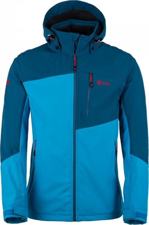 Pánská softshellová bunda KILPI ELIO Tmavě modrá/modrá Barva: Modrá, Velikost: 3XL