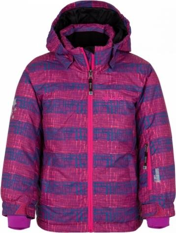 Dívčí lyžařská bunda KILPI GENOVESA-JG Fialová Barva: Fialová, Velikost: 164